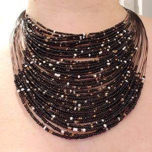 Vanity bead statement necklace